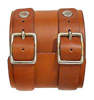 orange leather cuff