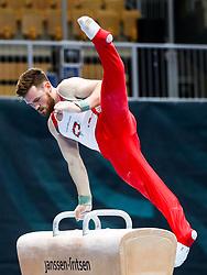 Benjamin Gischard of Switzerland at Pommel Horse during Qualifications of Artistic Gymnastics FIG World Challenge Koper 2018, on May 31, 2017 in Arena Bonifika, Koper, Slovenia. Photo by Matic Klansek Velej/ Sportida