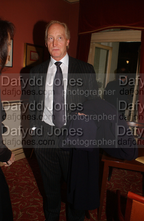Charles Dance. Opening night of Embers, Duke of York's theatre. St. Martin's Lane. London. 1 March 2006. ONE TIME USE ONLY - DO NOT ARCHIVE  © Copyright Photograph by Dafydd Jones 66 Stockwell Park Rd. London SW9 0DA Tel 020 7733 0108 www.dafjones.com