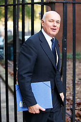 © Licensed to London News Pictures. 04/11/2014. LONDON, UK. Work & Pensions Secretary Iain Duncan Smith attending to a cabinet meeting in Downing Street on Tuesday 4 November 2014. Photo credit: Tolga Akmen/LNP