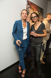 Left to right, KATIE HELLER and MIRANDA DONOVAN at the Hix Award 2016 held at Unit London, 147 Wardour Street, Soho, London on 5th September 2016.