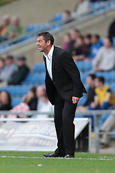 Southend United Manager, Phil Brown gives vent to his feelings - Photo mandatory by-line: Nigel Pitts-Drake/JMP - Tel: Mobile: 07966 386802 05/10/2013 - SPORT - FOOTBALL - Kassam Stadium - Oxford - Oxford United v Southend United - Sky Bet League 2