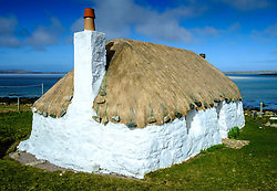 Traditional croft house, North Uist, Outer Hebrides, Scotland<br /> <br /> (c) Andrew Wilson | Edinburgh Elite media