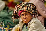 a Shan woman on a market day in kalaw, myanmar