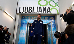 England interim manager Gareth Southgate arrives at The SRC Stozice Stadium ahead of the World Cup Qualifier against Slovenia- Mandatory by-line: Robbie Stephenson/JMP - 10/10/2016 - FOOTBALL - SRC Stozice - Ljubljana, England - England Press Conference