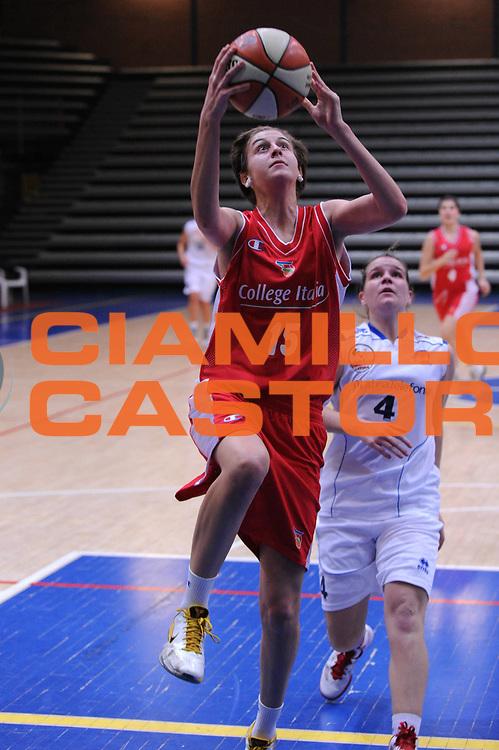 DESCRIZIONE : Latina Basket Campionato Italiano Femminile serie B 2011-2012<br /> GIOCATORE : Elisa Penna<br /> SQUADRA : College Italia<br /> EVENTO : College Italia 2011-2012<br /> GARA : Cestistica Latina College Italia <br /> DATA : 09/12/2011<br /> CATEGORIA : equilibrio<br /> SPORT : Pallacanestro <br /> AUTORE : Agenzia Ciamillo-Castoria/GiulioCiamillo<br /> Galleria : Fip Nazionali 2011<br /> Fotonotizia :  Latina Basket Campionato<br /> Italiano Femminile serie B 2011-2012<br /> Predefinita :