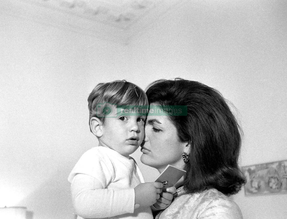U.S. - First Lady JACKIE KENNEDY holding JOHN F KENNEDY JR. Exact date, place unknown..(Credit Image: © John F. Kennedy Library/ZUMAPRESS.com)