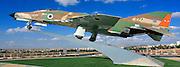 Israel, Beer Sheva a F-4E  Phantom II is the main element in the Memorial to the Israeli astronaut Ilan Ramon