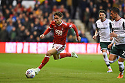 Nottingham Forest midfielder Matty Cash (14) during the EFL Sky Bet Championship match between Nottingham Forest and Barnsley at the City Ground, Nottingham, England on 24 April 2018. Picture by Jon Hobley.