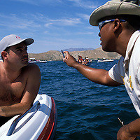 David Cook is given a eye test by Sheriff Deputy Al Huff to see if he had had too much to drink. Cook was operating a boat in the Copper Canyon area of Lake Havasu. He was NOT cited.