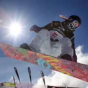 Hikaru Ohe, Japan, in action during the Women's Half Pipe Finals in the LG Snowboard FIS World Cup, during the Winter Games at Cardrona, Wanaka, New Zealand, 28th August 2011. Photo Tim Clayton