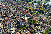 Nederland, Noord-Holland, Gemeente Hoorn, 05-08-2014; binnenstad van Hoorn.<br /> Town center Hoorn.<br /> luchtfoto (toeslag op standard tarieven);<br /> aerial photo (additional fee required);<br /> copyright foto/photo Siebe Swart