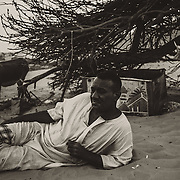 A Nubian man by the Nile in Aswan, Egypt.