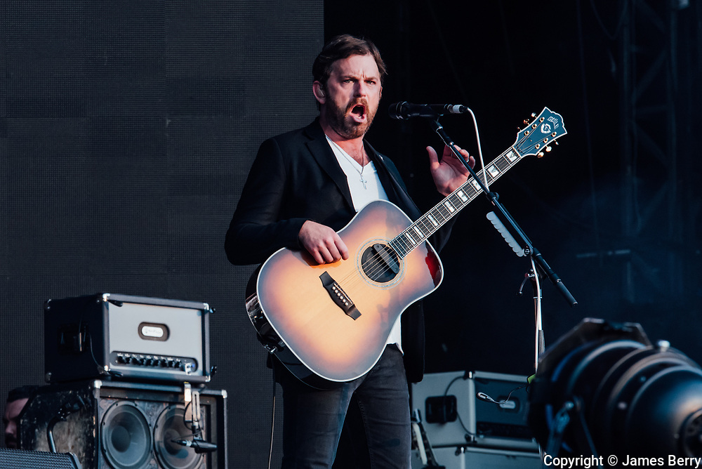 Kings of Leon live at British Summer Time Hyde Park, on Thursday 6 July 2017. Picture shows Caleb Followill.
