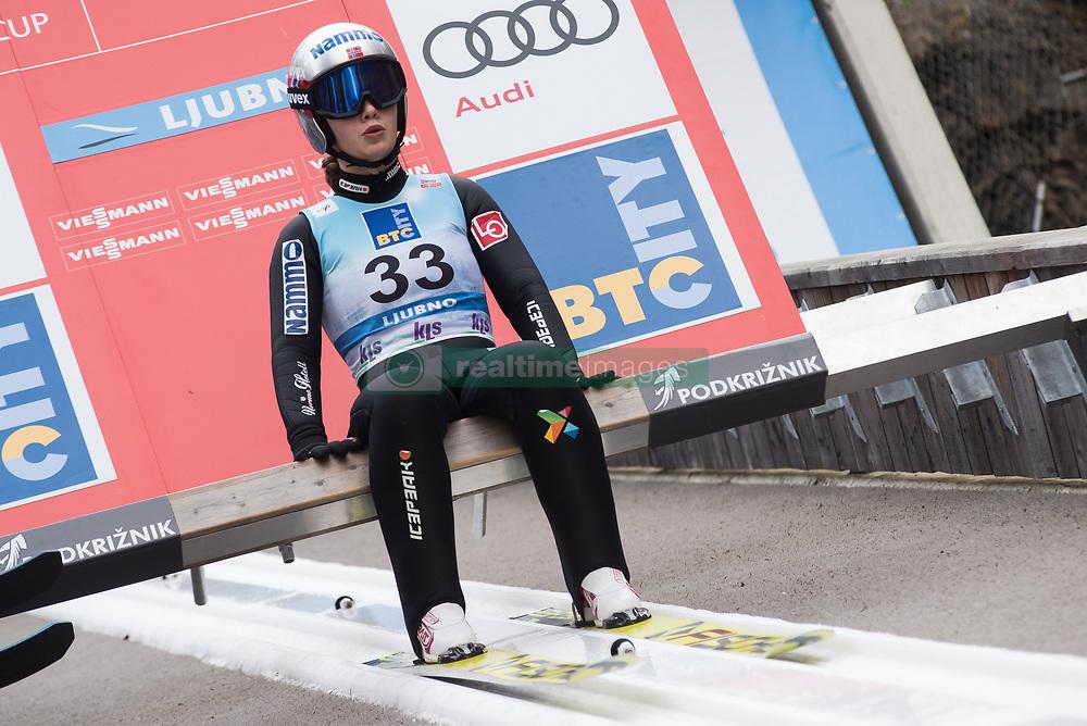 February 8, 2019 - Ljubno, Savinjska, Slovenia - Anna Odine Stroem of Norway on first competition day of the FIS Ski Jumping World Cup Ladies Ljubno on February 8, 2019 in Ljubno, Slovenia. (Credit Image: © Rok Rakun/Pacific Press via ZUMA Wire)