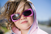 South Africa Cape Town girl in sunglasses portrait