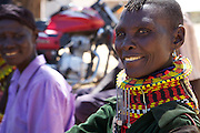Women come to meet together at Lokichar District Hospital, Turkana, northern Kenya.