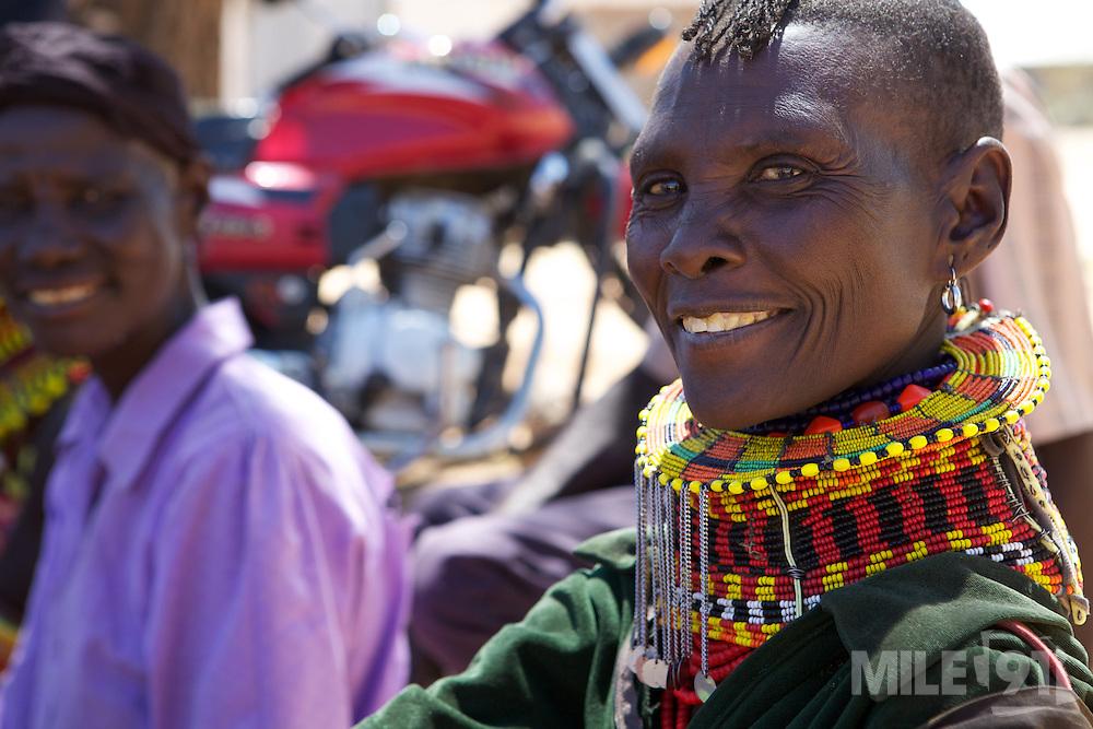 Women come to meet together at Lokichar District Hospital, Turkana, northern Kenya.