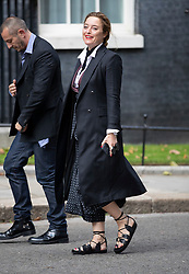 © Licensed to London News Pictures. 18/09/2018. London, UK. Alice temperley arrives in Downing Street to attend a  Fashion Week reception hosted by Prime Minister Theresa May. Photo credit: Peter Macdiarmid/LNP