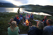 Families from Norway and Berlin using their holiday hiking in the mountains of Mid-Norway. Walking the Skarvene and Roltdalen national park by day, stying in cabins owned by the norwegian hiking organization (DNT) by night.