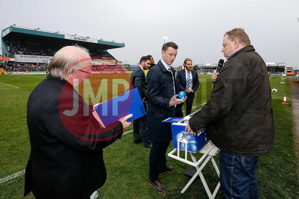 Bristol Rovers Helpline draw at Half Time - Photo mandatory by-line: Rogan Thomson/JMP - 07966 386802 - 03/04/2015 - SPORT - FOOTBALL - Bristol, England - Memorial Stadium - Bristol Rovers v Chester - Vanarama Conference Premier.