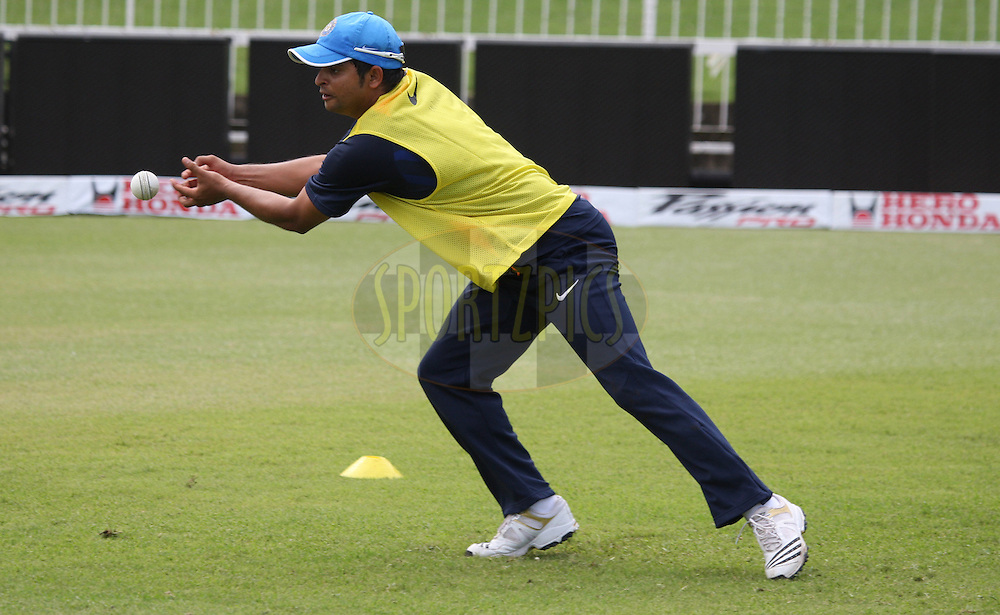 Suresh Raina  during the South Africa and India team practice sessions held at Kingsmead Stadium in Durban on the 11 January 2011 ( The 1st ODI between South Africa and India is due to be held at Kingsmead Stadium on the 12th January 2011 )..Photo by Steve Haag/BCCI/SPORTZPICS