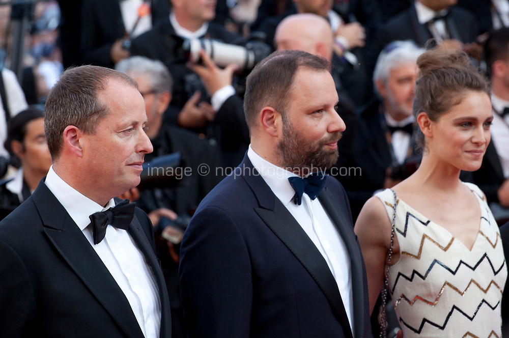 Andrew Lowe Director Yorgos Lanthimos, Ariane Labed, arriving to the Closing Ceremony and awards at the 70th Cannes Film Festival Sunday 28th May 2017, Cannes, France. Photo credit: Doreen Kennedy