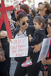 June 21, 2017 - Detroit, Michigan, U.S. - Detroit, Michigan USA - 21 June 2017 - Members and supporters of Detroit's Chaldean community of Iraqi Christians rallied outside the federal courthouse to protest the government's arrest of dozens of Iraqis who they plan to deport. Inside the courthouse, arguments were heard on a class-action lawsuit filed by the ACLU seeking to stop the deportations. (Credit Image: © Jim West via ZUMA Wire)