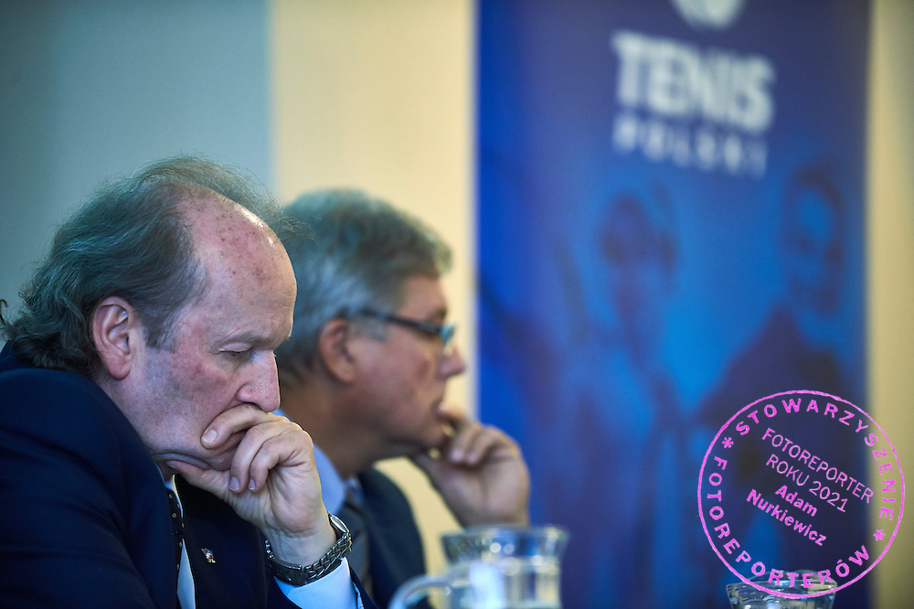 The Polish Tennis Federation president Jacek Muzolf while the General Assembly of Delegates of the Polish Tennis Association at Torwar Hall in Warsaw on June 23, 2015.<br /> <br /> Poland, Warsaw, June 23, 2015.<br /> <br /> Picture also available in RAW (NEF) or TIFF format on special request.<br /> <br /> For editorial use only. Any commercial or promotional use requires permission.<br /> Adam Nurkiewicz declares that he has no rights to the image of people at the photographs of his authorship.<br /> Mandatory credit:<br /> Photo by &copy; Adam Nurkiewicz / Mediasport