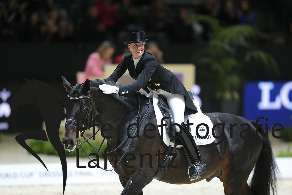 von Bredow-Werndl, Jessica, Unee BB<br /> Lyon - Weltcup Finale<br /> Kür<br /> © www.sportfotos-lafrentz.de/Stefan Lafrentz