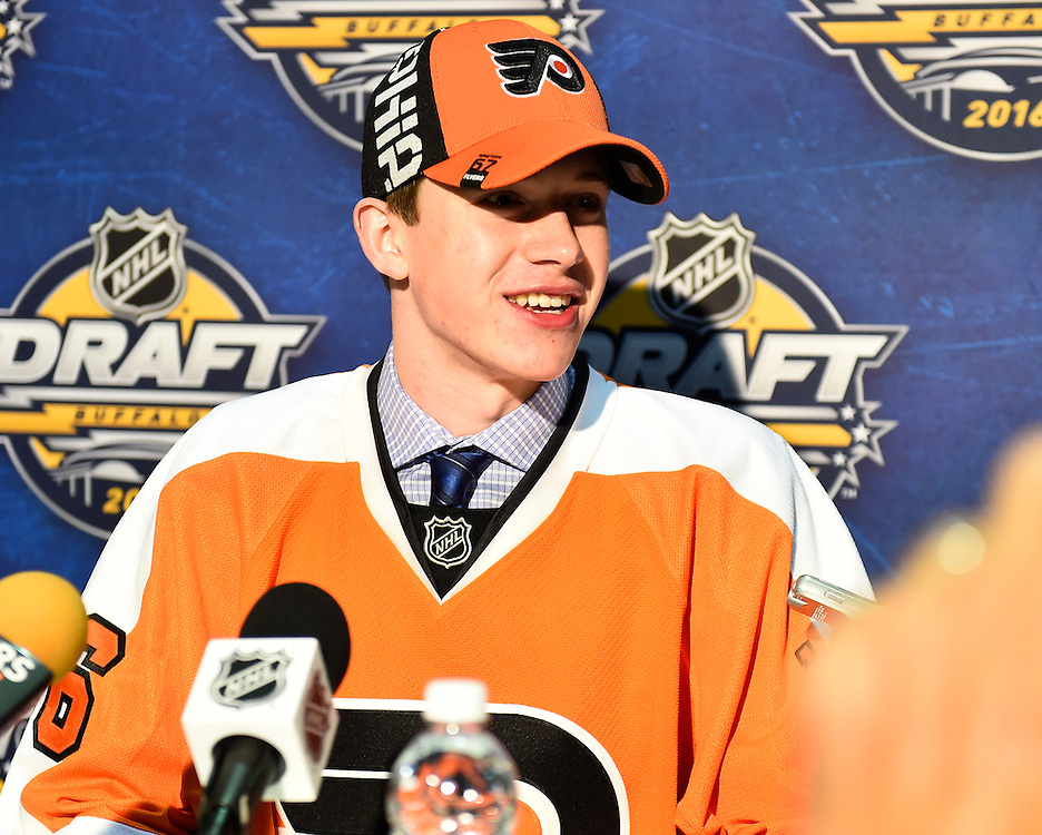 Carter Hart at the 2016 NHL Draft in Buffalo, NY on Saturday June 25, 2016. Photo by Aaron Bell/CHL Images