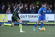 AFC Wimbledon attacker Harry Forrester (11) dribbling during the EFL Sky Bet League 1 match between AFC Wimbledon and Bristol Rovers at the Cherry Red Records Stadium, Kingston, England on 17 February 2018. Picture by Matthew Redman.