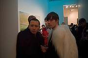 TERENCE KOH AND JAY CRISFAR, Dinner hosted by the Victoria Miro Gallery Serpentine after the opening of the Derek Jarman exhibition curated by isaac Julien. February 2008.  *** Local Caption *** -DO NOT ARCHIVE-© Copyright Photograph by Dafydd Jones. 248 Clapham Rd. London SW9 0PZ. Tel 0207 820 0771. www.dafjones.com.