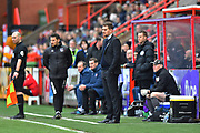 Grimsby Town manager Michael Jolley during the EFL Sky Bet League 2 match between Exeter City and Grimsby Town FC at St James' Park, Exeter, England on 29 December 2018.