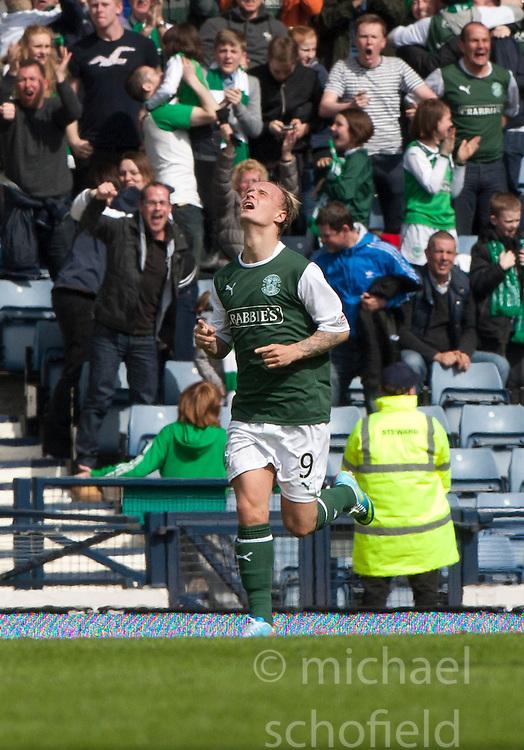 Hibernian's Leigh Griffiths cele scoring their second goal..Hibernian 4 v 3 Falkirk, William Hill Scottish Cup Semi Final, Hampden Park..©Michael Schofield..