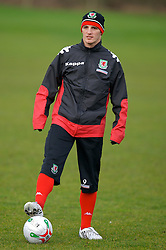 CHESTER, ENGLAND - Monday, February 4, 2008: Wales' Jason Koumas during training at the Carden Park Hotel ahead of their friendly match against Norway. (Photo by David Rawcliffe/Propaganda)