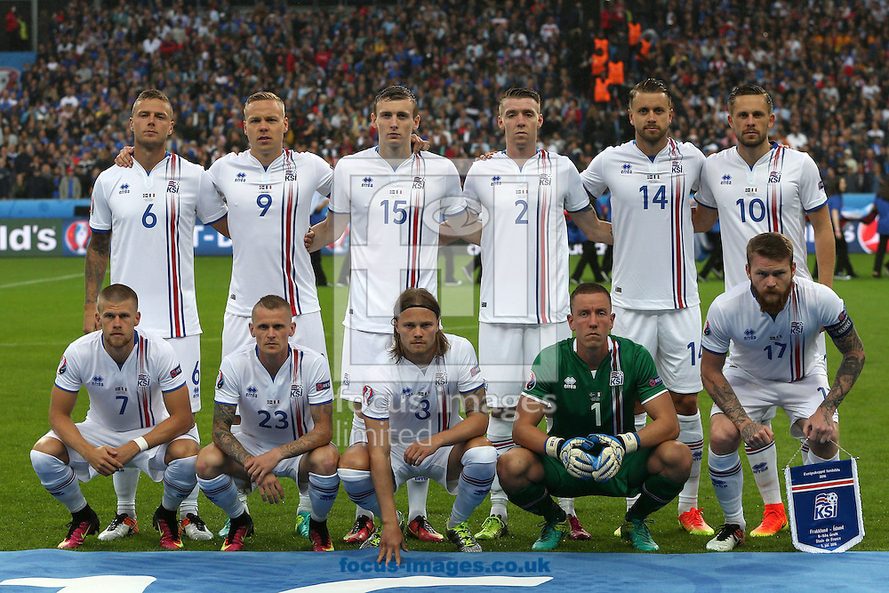 The Iceland team before the quarter final match at Stade de France, Paris<br /> Picture by Paul Chesterton/Focus Images Ltd +44 7904 640267<br /> 03/07/2016