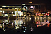 The Civic Center Plaza photographed during the Christmas Tree Lighting Ceremony at the Milpitas City Hall's Civic Center in Milpitas, California, on November 30, 2015. (Stan Olszewski/SOSKIphoto)
