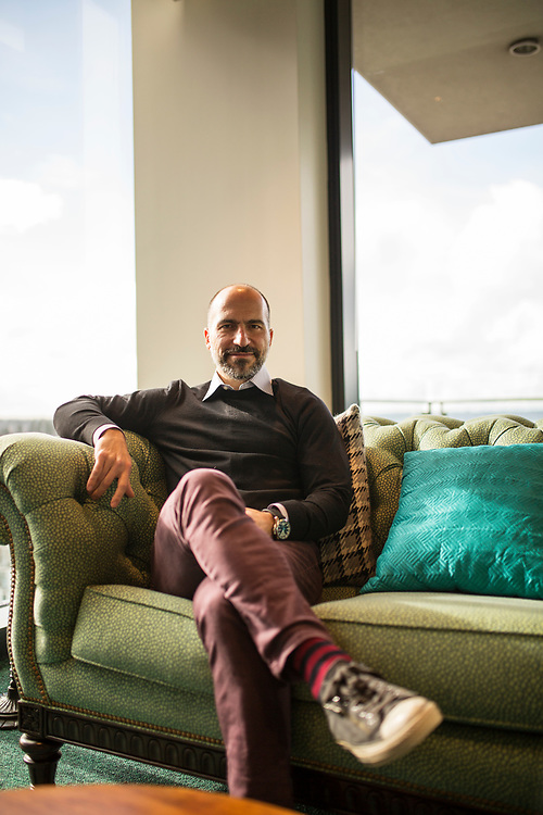 Expedia CEO Dara Khosrowshahi at company headquarters in Bellevue, Washington. November 15, 2016.<br /> <br /> Matt Lutton / Boreal Collective for the Financial Times