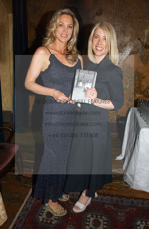 Left to right, LADY LIZA CAMPBELL and writer KATHLEEN DE TESSARO at a party to celebrate the publication of Title Deeds by Liza Campbell at the First Floor, 186 Portobello Road, London on 14th June 2006.<br />