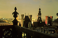 France. Paris. elevated view. Saint Eustache church and the guards. view from the Hotel de ville