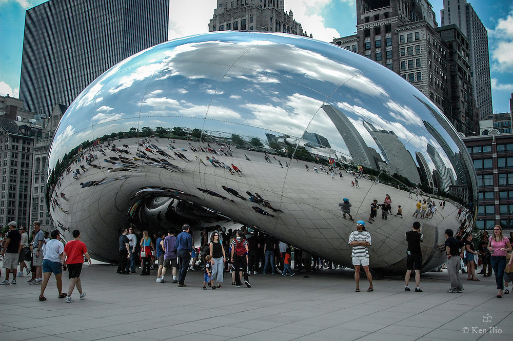 The Bean after two weeks of its unveiling to public, July 31, 2004