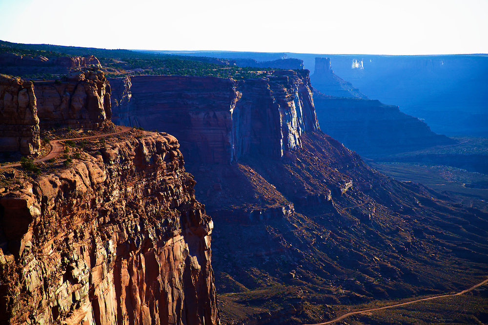 The amazing vistas of the cliffs at Canyonlands National Park in the early morning sunlight.