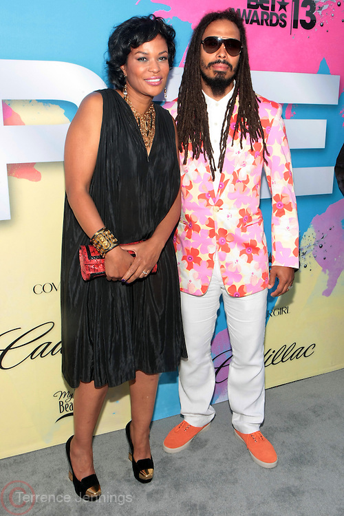 "Los Angeles, CA-June 29:  (L-R) Producer Beverly Bond and Recording Artist Bazaar Royale attend the Seventh Annual "" Pre "" Dinner celebrating BET Awards hosted by BET Network/CEO Debra L. Lee held at Miulk Studios on June 29, 2013 in Los Angeles, CA. © Terrence Jennings"