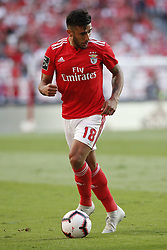 October 7, 2018 - Lisbon, Portugal - Eduardo Salvio of Benfica during the Portuguese League football match between SL Benfica and FC Porto at Luz Stadium in Lisbon on October 7, 2018. (Credit Image: © Carlos Palma/NurPhoto/ZUMA Press)