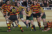 © Peter Spurrier/ Intersport-Images.Photo Peter Spurrier.15/03/2003.Sport - Rugby  National League Div 2 Henley v Harrogate.Barry Reeves attacks runs with the ball attacking the harrogate defence.