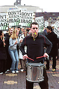 Demonstration organised by the Stop the War Coalition, in protest at the threat of war against Iraq. <br /> Birmingham, England. 2nd March 2003.