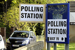 © Licensed to London News Pictures. 07/05/2015<br /> General Election polling day. Voters go to the polls today (07.05.2015).<br /> Polling signs.<br /> Polling station at The Temple, St Marys Cray High Street.Orpington,Kent.<br /> (Byline:Grant Falvey/LNP)