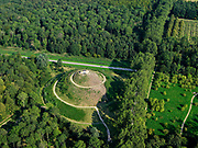 Nederland, Flevoland, Almere Haven, 26-08-2019; Stichtse kant met Cirkelbos, land art project met daarin opgenomen het Museumbos.  Onderdeel van het Museumbos is de dertig meter hoge uitkijkberg 'Almere Boven'.<br /> Stichtse side with Cirkelbos, land art project including the Museumbos.<br /> luchtfoto (toeslag op standard tarieven);<br /> aerial photo (additional fee required);<br /> copyright foto/photo Siebe Swart