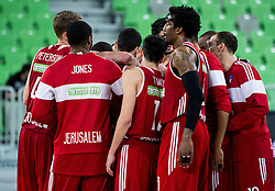 Amare Stoudemire and other players of Hapoel after winning during basketball match between KK Union Olimpija Ljubljana (SLO) and Hapoel Jerusalem (ISR) in Round #4 of 7Days EuroCup 2016/17, on October 26, 2016 in Arena Stozice, Ljubljana, Slovenia. Photo by Vid Ponikvar / Sportida